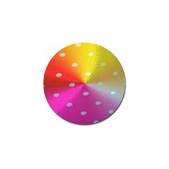 Polka Dots Pattern Colorful Colors Golf Ball Marker (4 pack)