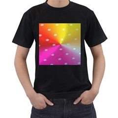 Polka Dots Pattern Colorful Colors Men s T Shirt (black) (two Sided)