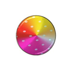 Polka Dots Pattern Colorful Colors Hat Clip Ball Marker