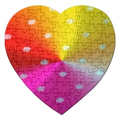 Polka Dots Pattern Colorful Colors Jigsaw Puzzle (Heart)