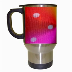 Polka Dots Pattern Colorful Colors Travel Mugs (White)