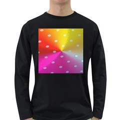 Polka Dots Pattern Colorful Colors Long Sleeve Dark T-Shirts