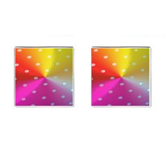 Polka Dots Pattern Colorful Colors Cufflinks (square)