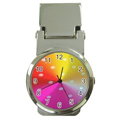 Polka Dots Pattern Colorful Colors Money Clip Watches
