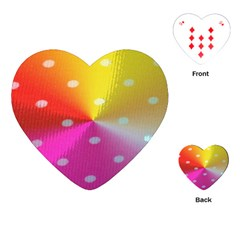 Polka Dots Pattern Colorful Colors Playing Cards (Heart)