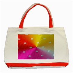Polka Dots Pattern Colorful Colors Classic Tote Bag (Red)