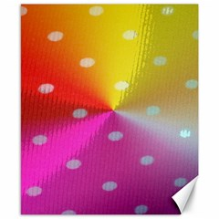 Polka Dots Pattern Colorful Colors Canvas 8  X 10