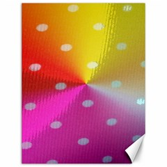 Polka Dots Pattern Colorful Colors Canvas 12  X 16