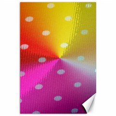 Polka Dots Pattern Colorful Colors Canvas 12  X 18