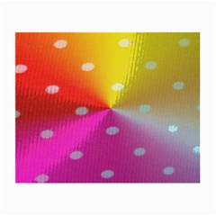 Polka Dots Pattern Colorful Colors Small Glasses Cloth (2 Side)