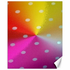Polka Dots Pattern Colorful Colors Canvas 11  X 14