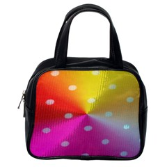 Polka Dots Pattern Colorful Colors Classic Handbags (One Side)