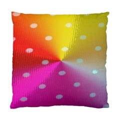 Polka Dots Pattern Colorful Colors Standard Cushion Case (one Side)