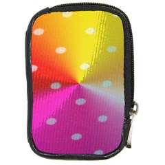 Polka Dots Pattern Colorful Colors Compact Camera Cases
