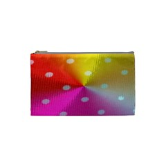 Polka Dots Pattern Colorful Colors Cosmetic Bag (small)