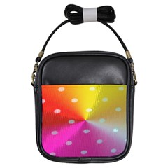 Polka Dots Pattern Colorful Colors Girls Sling Bags