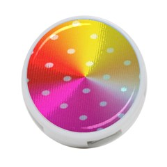 Polka Dots Pattern Colorful Colors 4-Port USB Hub (Two Sides)