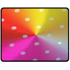Polka Dots Pattern Colorful Colors Fleece Blanket (medium)