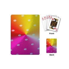 Polka Dots Pattern Colorful Colors Playing Cards (mini)