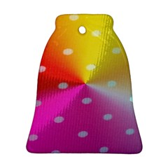 Polka Dots Pattern Colorful Colors Ornament (bell)