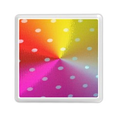 Polka Dots Pattern Colorful Colors Memory Card Reader (square)