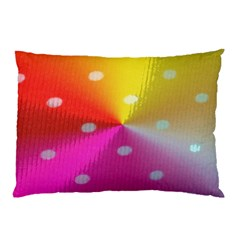 Polka Dots Pattern Colorful Colors Pillow Case (Two Sides)
