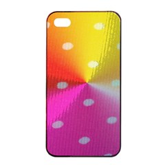 Polka Dots Pattern Colorful Colors Apple Iphone 4/4s Seamless Case (black)