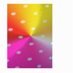 Polka Dots Pattern Colorful Colors Large Garden Flag (Two Sides)