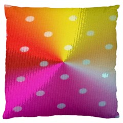 Polka Dots Pattern Colorful Colors Large Cushion Case (two Sides)