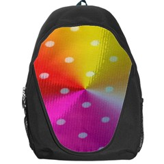 Polka Dots Pattern Colorful Colors Backpack Bag