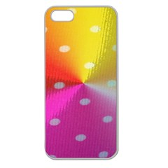 Polka Dots Pattern Colorful Colors Apple Seamless iPhone 5 Case (Clear)