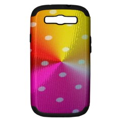 Polka Dots Pattern Colorful Colors Samsung Galaxy S III Hardshell Case (PC+Silicone)