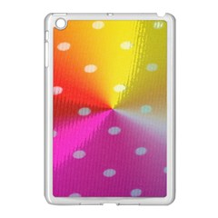 Polka Dots Pattern Colorful Colors Apple iPad Mini Case (White)
