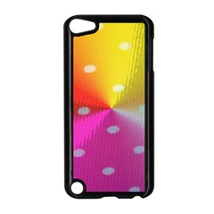 Polka Dots Pattern Colorful Colors Apple iPod Touch 5 Case (Black)