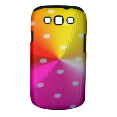 Polka Dots Pattern Colorful Colors Samsung Galaxy S III Classic Hardshell Case (PC+Silicone)