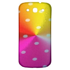 Polka Dots Pattern Colorful Colors Samsung Galaxy S3 S III Classic Hardshell Back Case