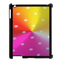 Polka Dots Pattern Colorful Colors Apple iPad 3/4 Case (Black)