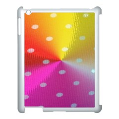 Polka Dots Pattern Colorful Colors Apple iPad 3/4 Case (White)