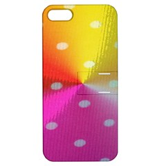 Polka Dots Pattern Colorful Colors Apple iPhone 5 Hardshell Case with Stand