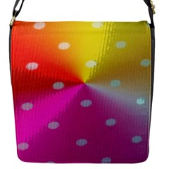 Polka Dots Pattern Colorful Colors Flap Messenger Bag (S)