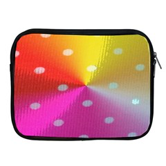 Polka Dots Pattern Colorful Colors Apple iPad 2/3/4 Zipper Cases