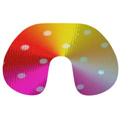 Polka Dots Pattern Colorful Colors Travel Neck Pillows