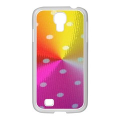 Polka Dots Pattern Colorful Colors Samsung GALAXY S4 I9500/ I9505 Case (White)