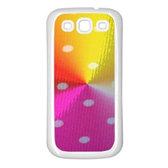 Polka Dots Pattern Colorful Colors Samsung Galaxy S3 Back Case (White)
