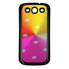 Polka Dots Pattern Colorful Colors Samsung Galaxy S3 Back Case (Black)