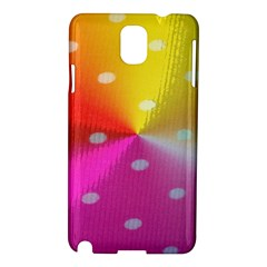 Polka Dots Pattern Colorful Colors Samsung Galaxy Note 3 N9005 Hardshell Case