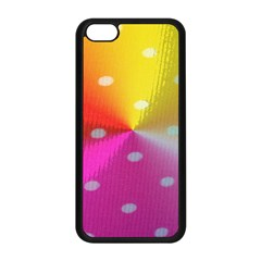 Polka Dots Pattern Colorful Colors Apple iPhone 5C Seamless Case (Black)