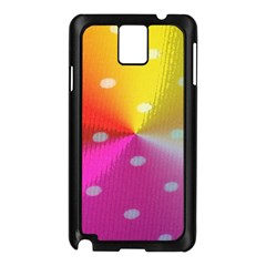 Polka Dots Pattern Colorful Colors Samsung Galaxy Note 3 N9005 Case (Black)