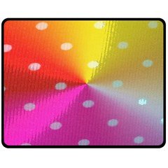Polka Dots Pattern Colorful Colors Double Sided Fleece Blanket (Medium)