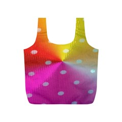 Polka Dots Pattern Colorful Colors Full Print Recycle Bags (S)